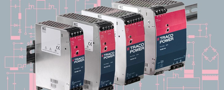 Robust and reliable AC/DC converters for DIN rail from TRACO POWER